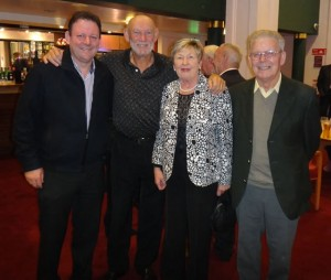 Sean Quinn and his Mother and Father Madeline and Martin Quinn with Paddy Cole at national concert hall, Sean Quinn entertainment music agency